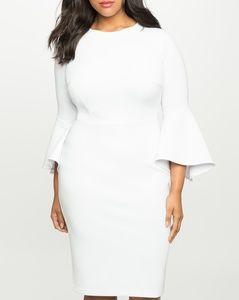 NEW Elloquii Flare Sleeve Scuba Dress